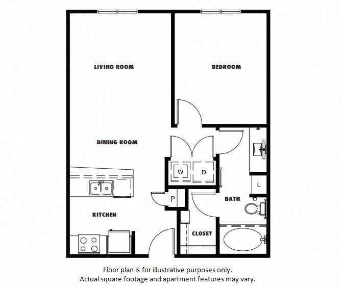A3A floor plan at Windsor Metro West, Plano, TX