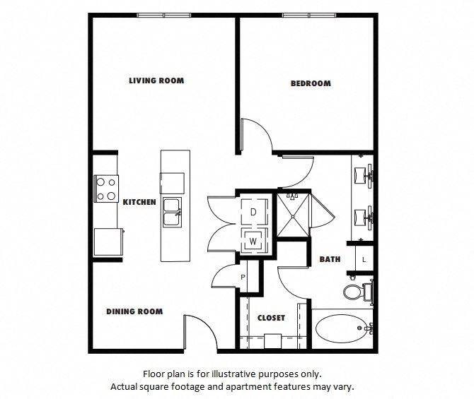 A4  Floor Plan at Windsor Metro West, Plano, TX