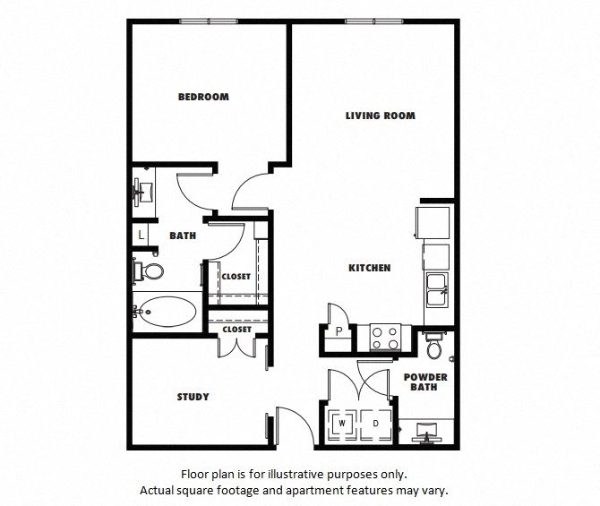 A5 floor plan at Windsor Metro West, 8055 Windrose Ave, 75024