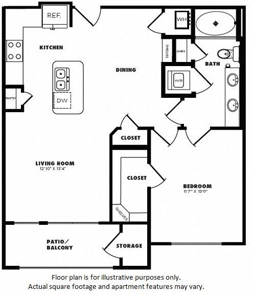 A5(1) floor plan at Windsor Burnet, Austin, TX