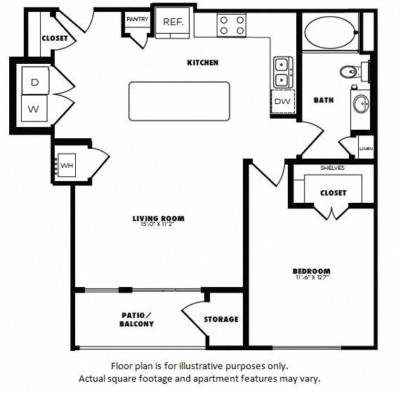 A6(2) floor plan at Windsor Burnet, 10301 Burnet Rd, 78758