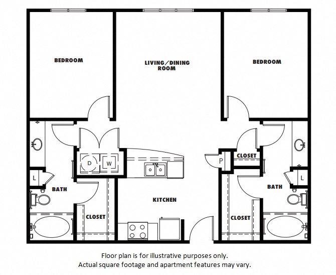 B1 floor plan at Windsor Metro West, Plano, Texas
