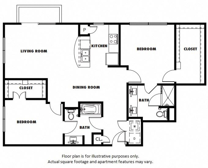 B2A floor plan at Windsor Metro West, Plano, Texas