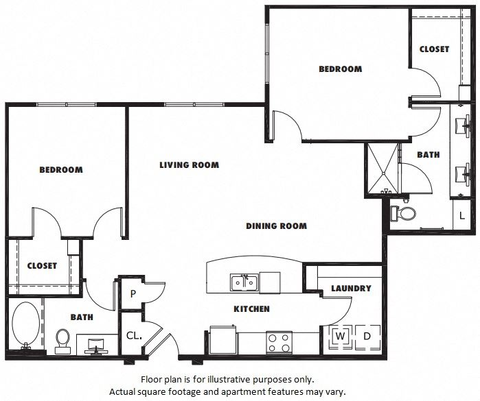 B3 floor plan at Windsor Metro West, Texas, 75024