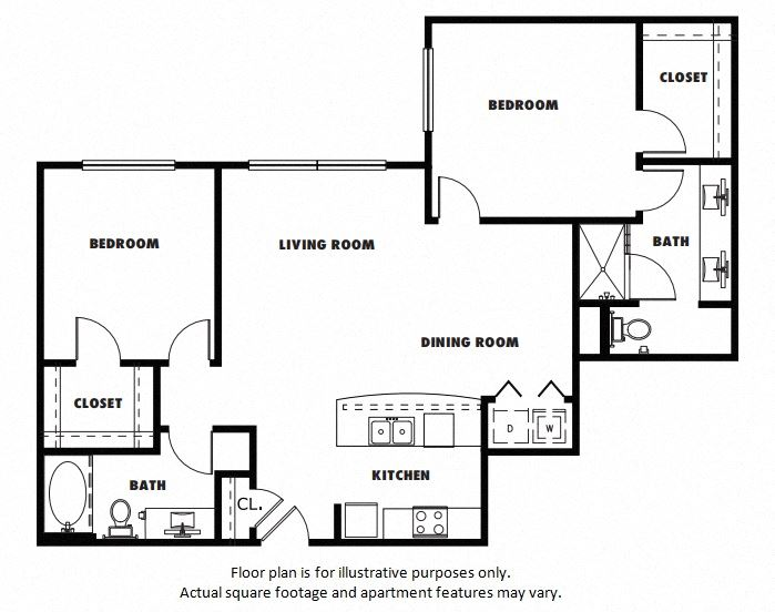 B3A floor plan at Windsor Metro West, TX, 75024