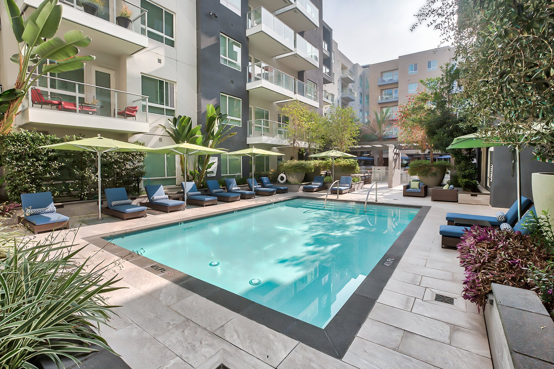 Resort-Style Pool at Olympic by Windsor, Los Angeles, 90015