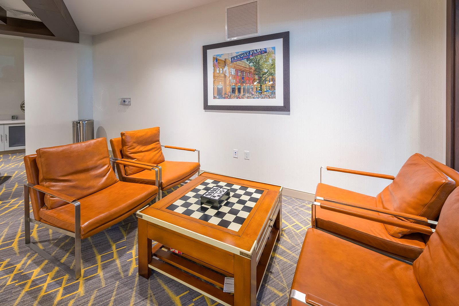 Game room with chess table at Hopkinton by Windsor, Hopkinton, Massachusetts