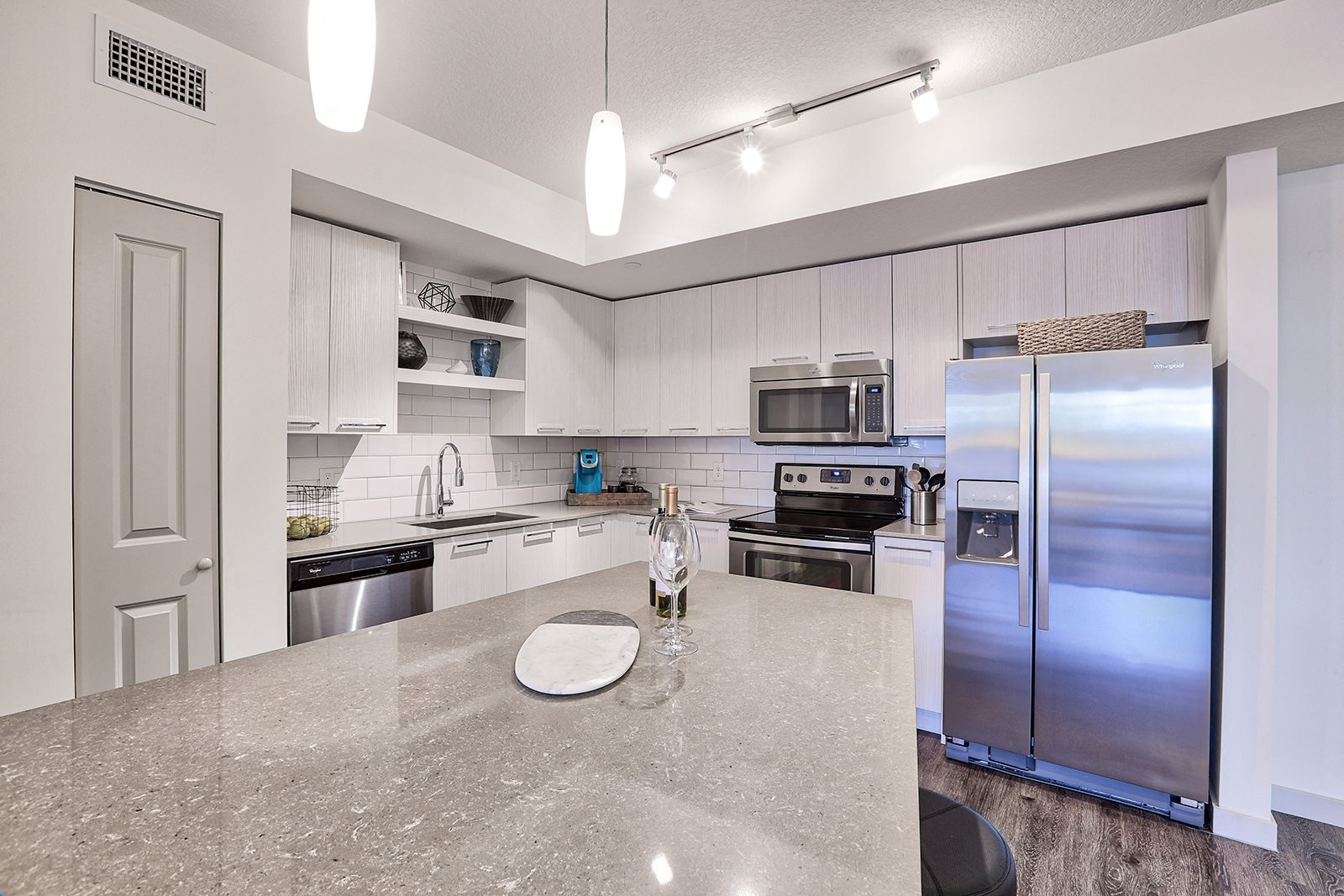 Gourmet Kitchens feature Stainless Steel Appliances at Windsor at Delray Beach, Florida