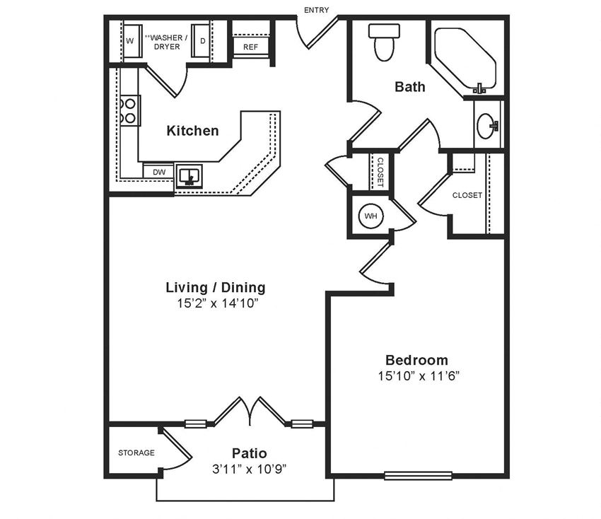 M_Firenze Floor Plan at Windsor at Midtown, CO, 80014