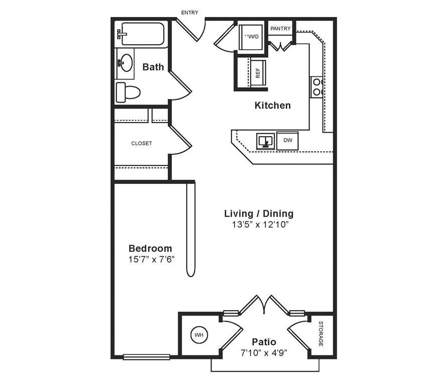 M_Venezia(1) Floor Plan at Windsor at Midtown, CO, 80014