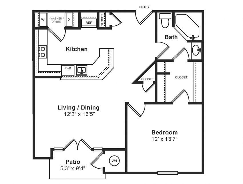 M_Verona(1) Floor Plan at Windsor at Midtown, Aurora, CO