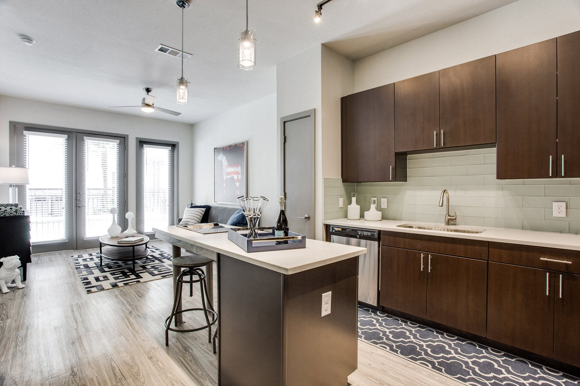 Modern Kitchens with Quartz Countertops at Windsor West Lemmon, 3650 Cedarplaza Lane, Dallas
