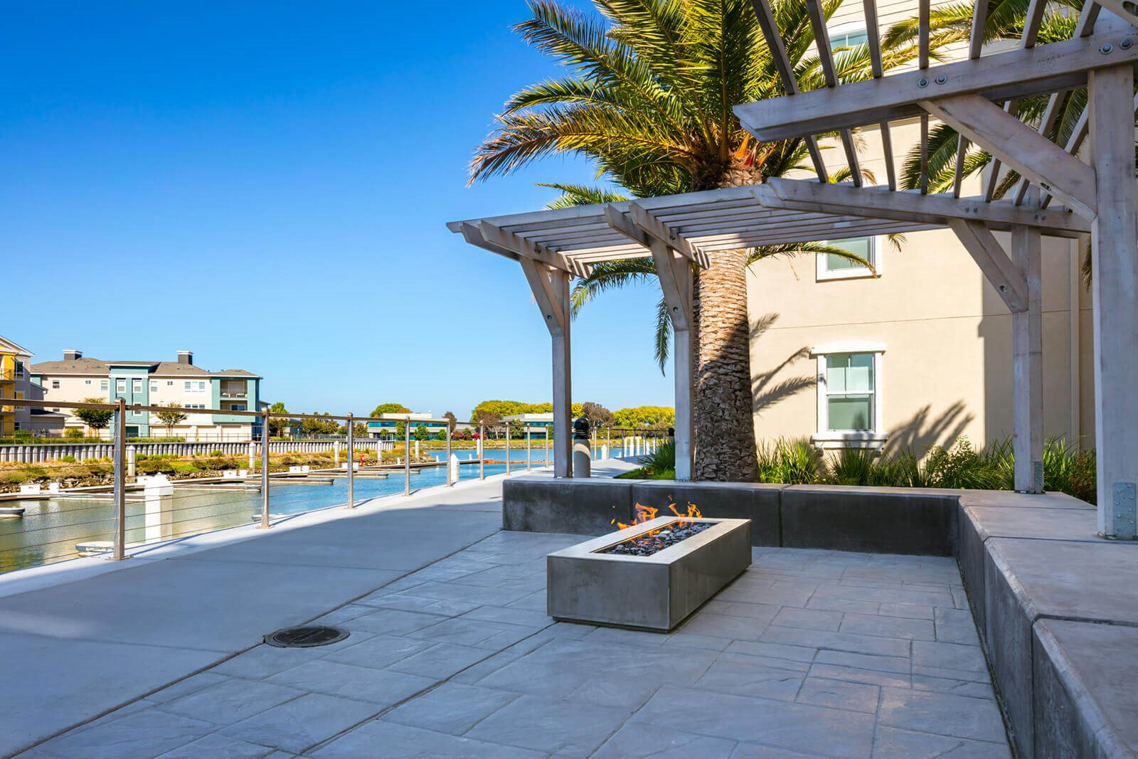 Fire-Pit In Courtyard at Blu Harbor by Windsor, 1 Blu Harbor Blvd, Redwood City