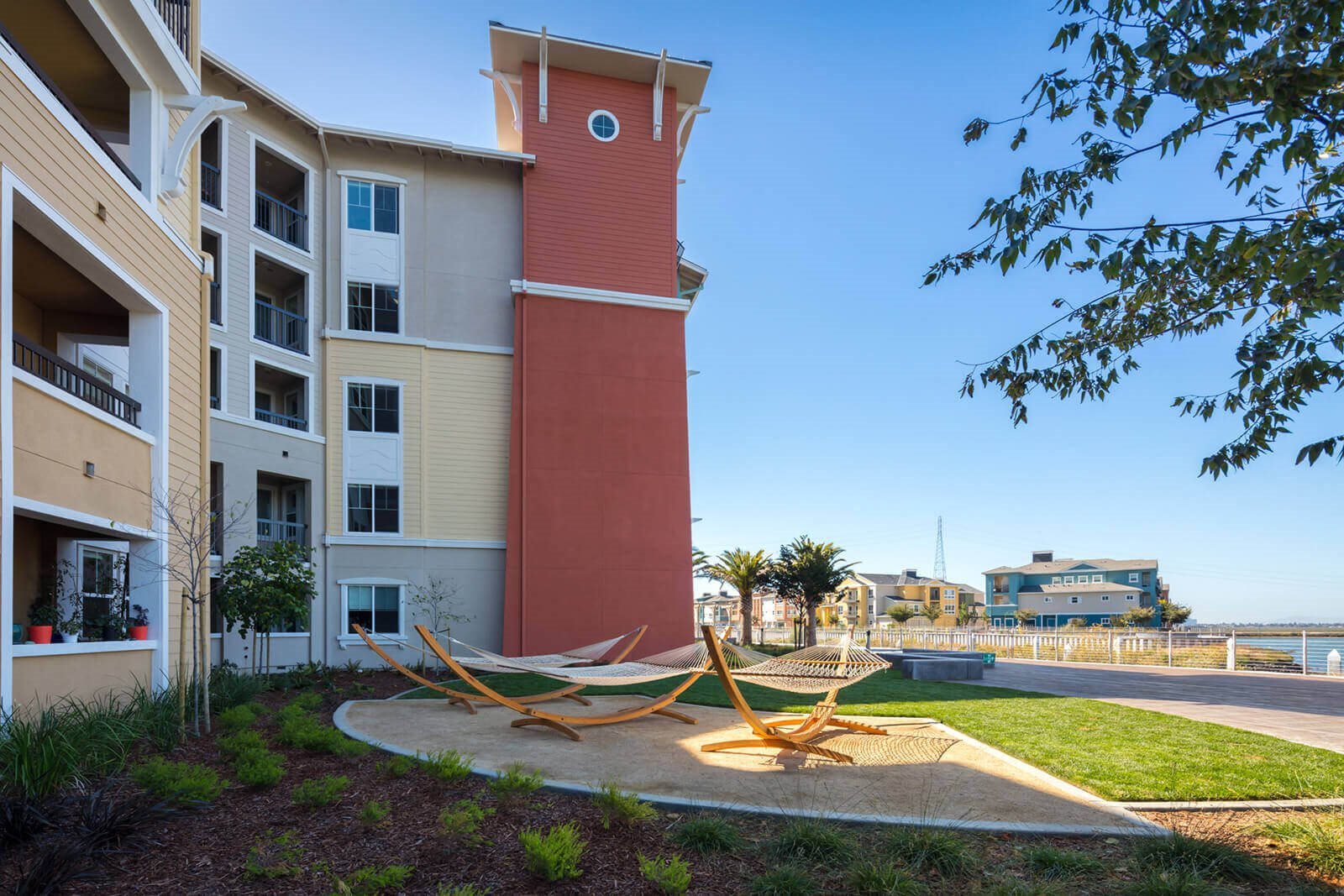 Hammocks To Relax at Blu Harbor by Windsor, Redwood City, California