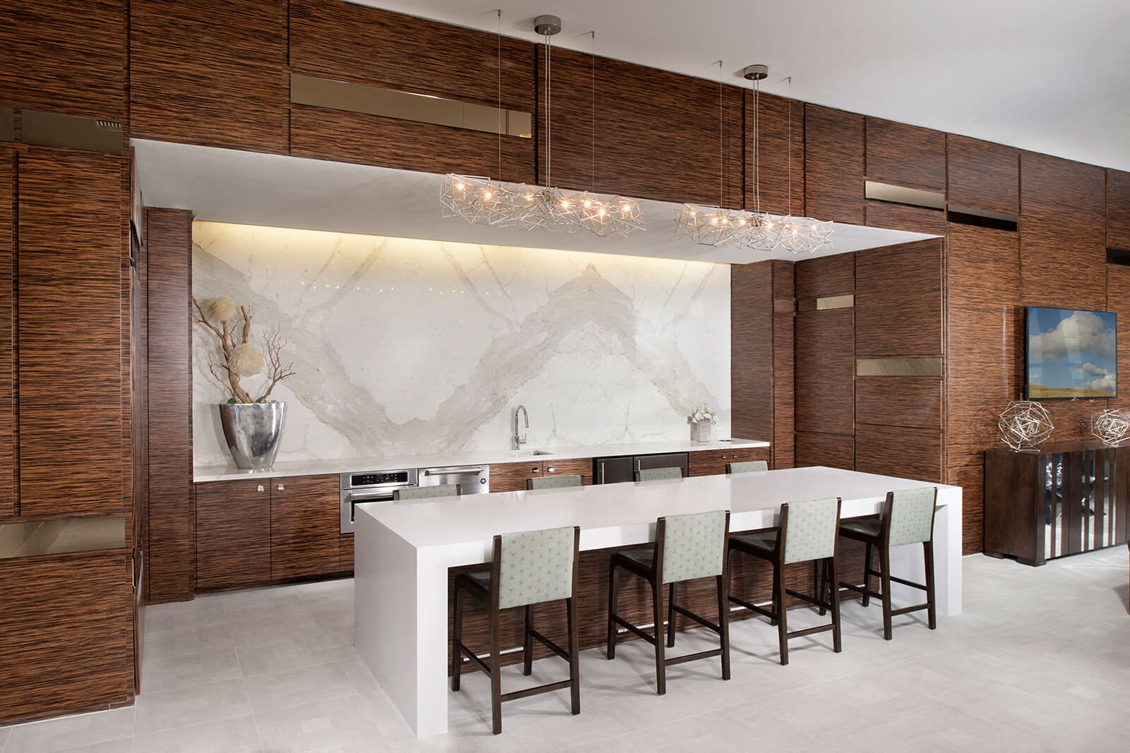 Clubhouse Kitchenette at Blu Harbor by Windsor, Redwood City, CA