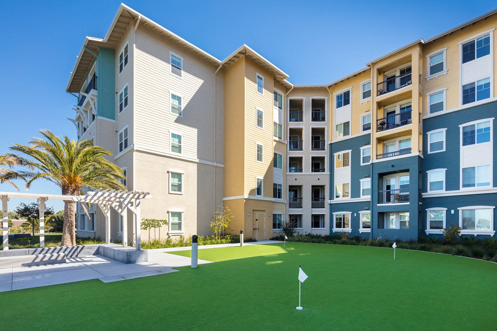 Putting Green at Blu Harbor by Windsor, Redwood City, California