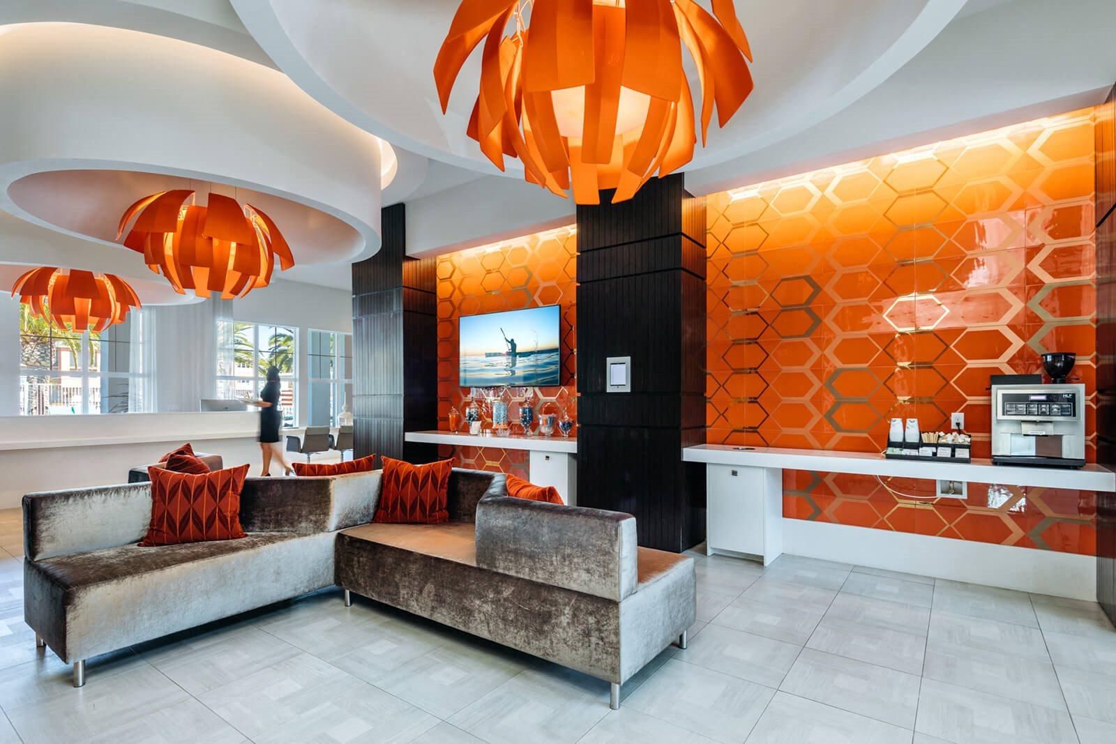 Posh Lobby Area at Blu Harbor by Windsor, Redwood City, California