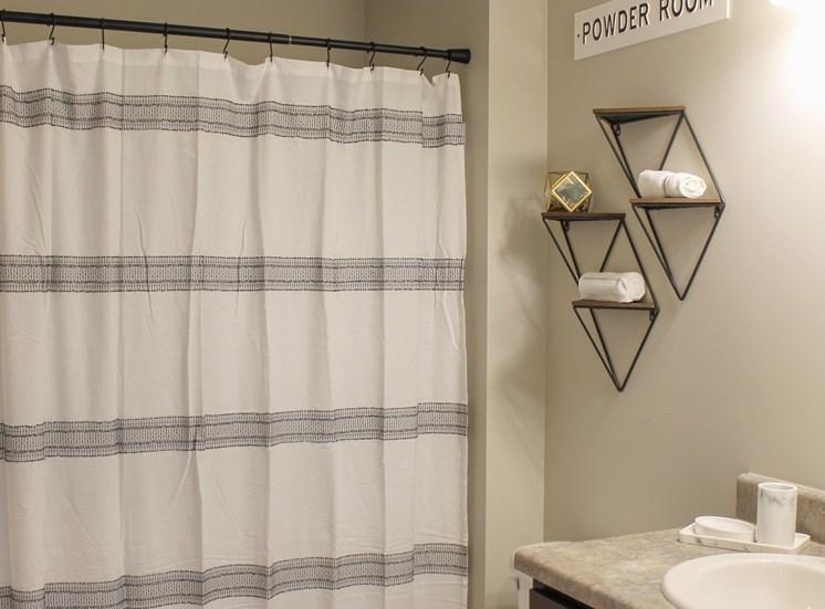 Victory Village Bathroom Shower Curtain Wall Decor