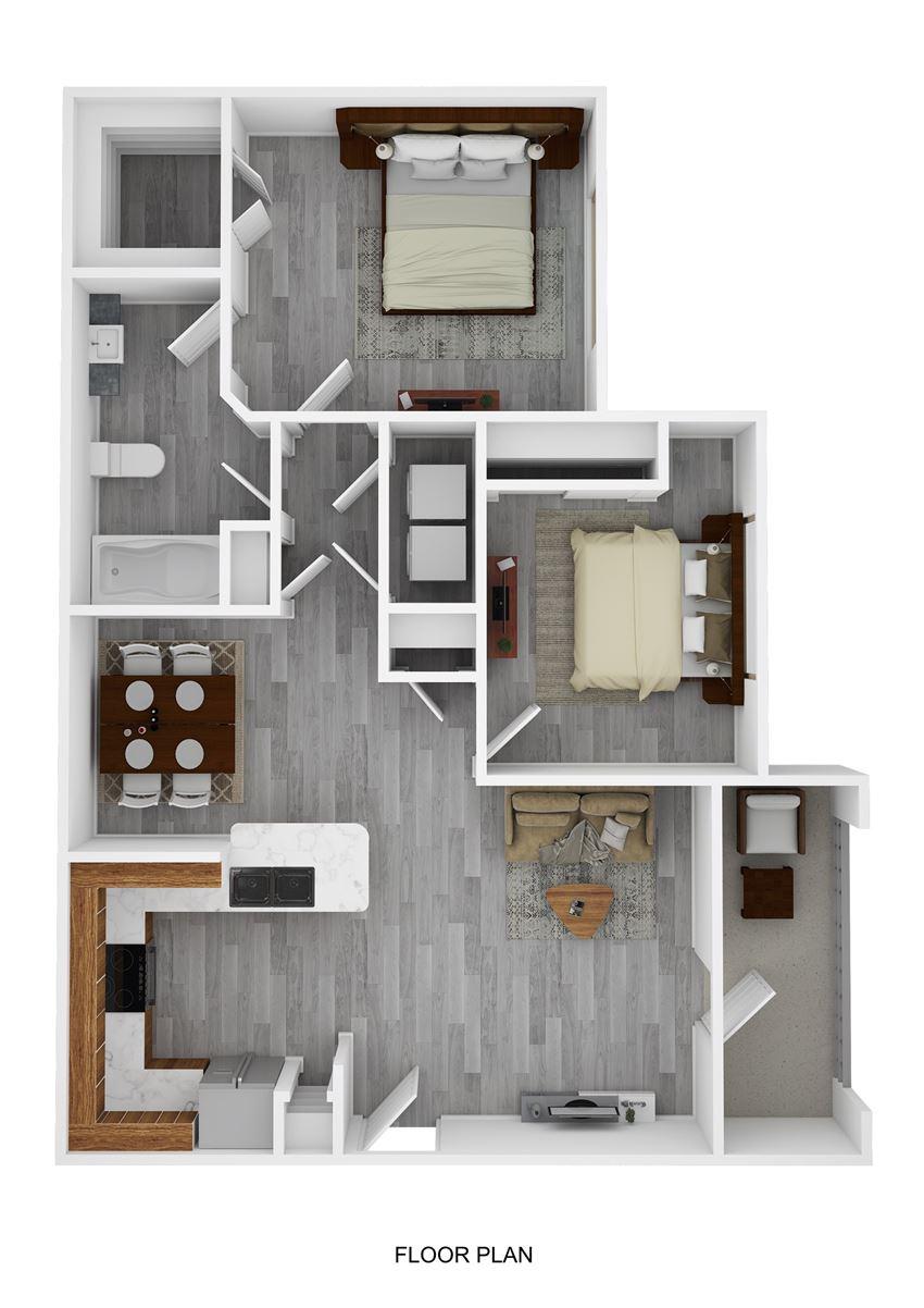 Davy Crockett Floor Plan at Ranch 123, Texas, 78155