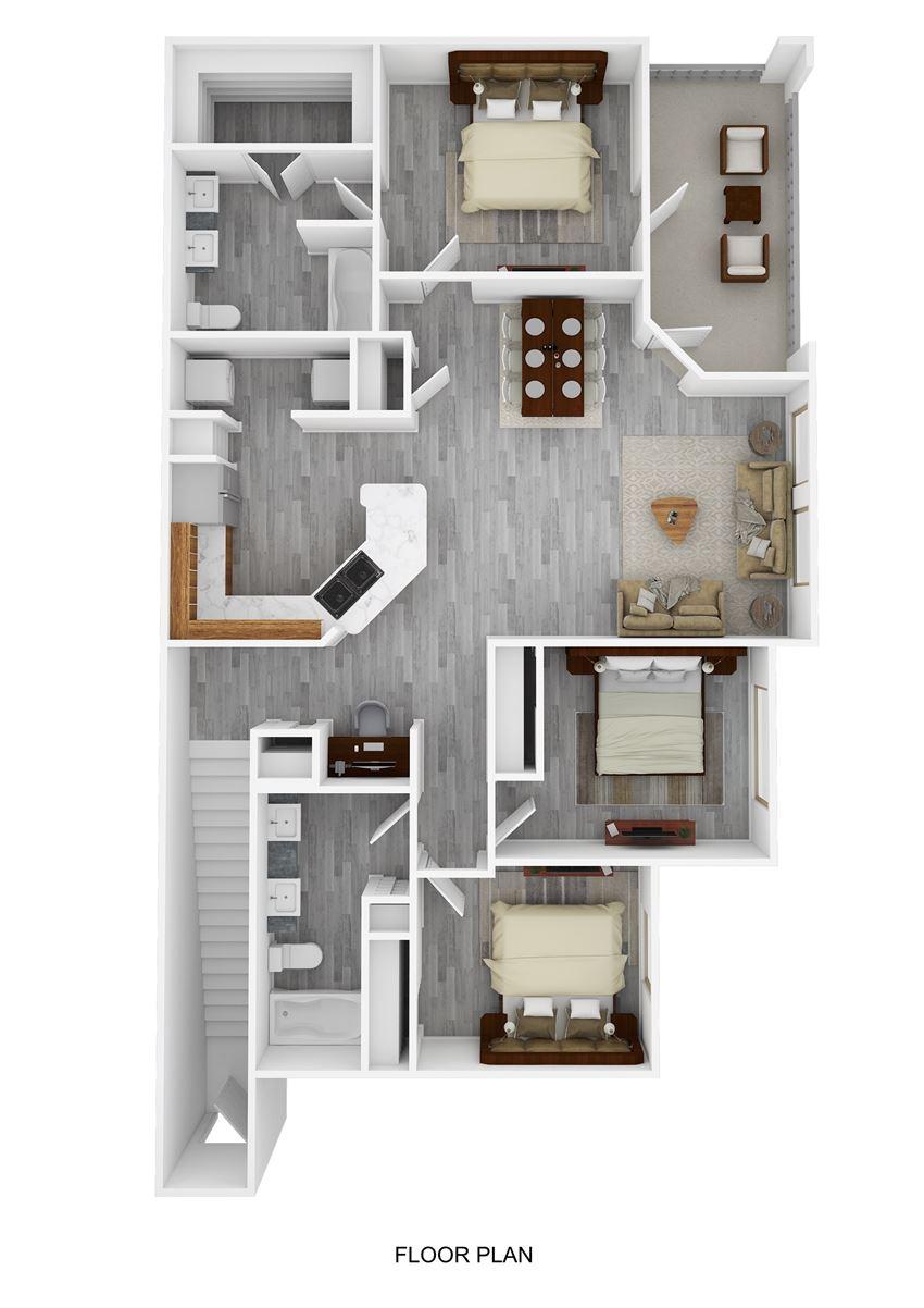 Juan Seguin Floor Plan at Ranch 123, Seguin, Texas