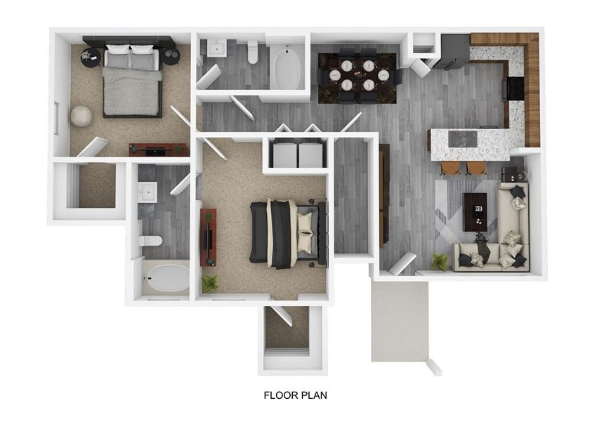 B1 Floor Plan at The Emerson, Texas, 78660