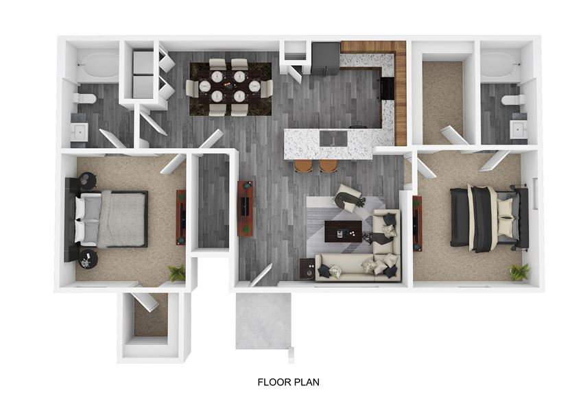 B2 Floor Plan at The Emerson, Pflugerville, TX