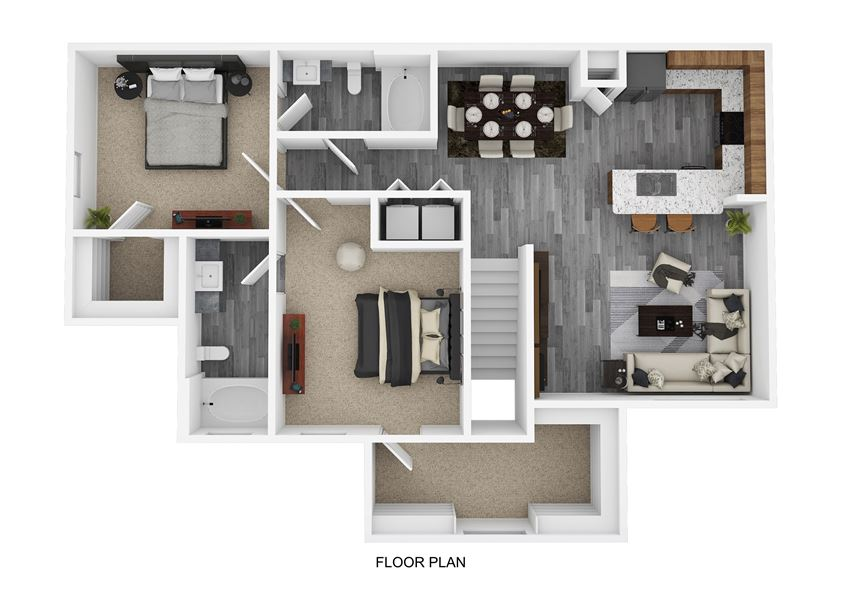 B3 Floor Plan at The Emerson, Pflugerville, Texas