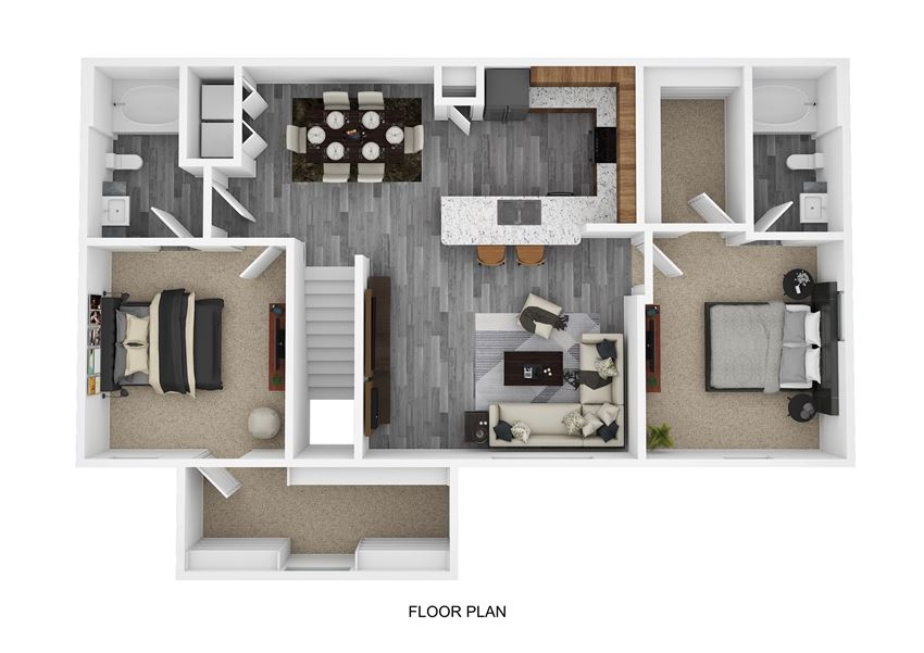 B4 Floor Plan at The Emerson, Pflugerville