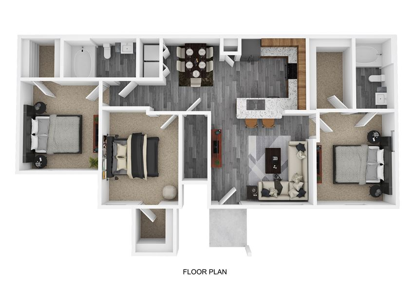 C1 Floor Plan at The Emerson, Texas