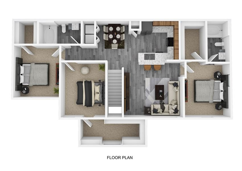 C2 Floor Plan at The Emerson, Pflugerville, TX, 78660