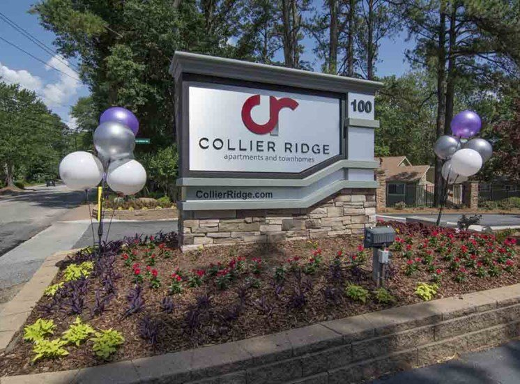 Elegant Entry Sign at Collier Ridge, Atlanta, GA