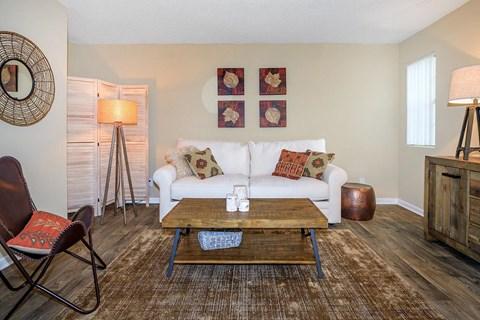 Wood Floor Living Room at Forest Ridge on Terrell Mill, Marietta, GA, 30067
