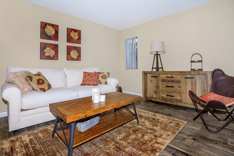 Living Room at Forest Ridge on Terrell Mill, Marietta