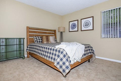 Bedroom With Expansive Windows at Forest Ridge on Terrell Mill, Georgia