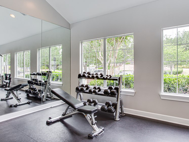 Brodick Hills fitness center free weights
