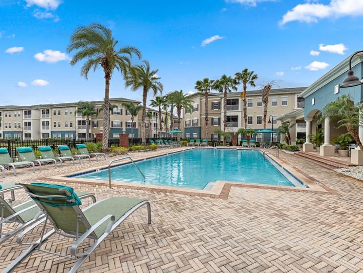 Poolside Sundeck at Savannah at Park Central, Florida