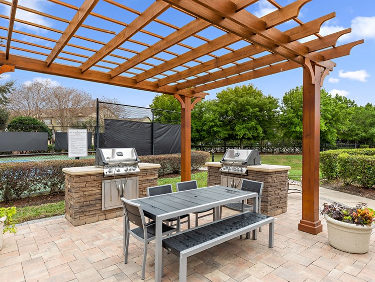 Outdoor Patio With Grilling Station at Savannah at Park Central, Orlando, 32839