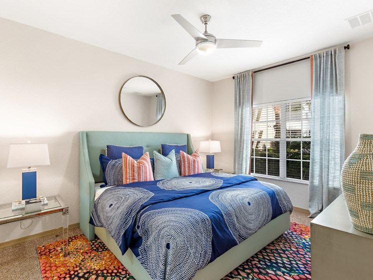 Gorgeous Bedroom With Ceiling Fan at Savannah at Park Central, Orlando, FL, 32839