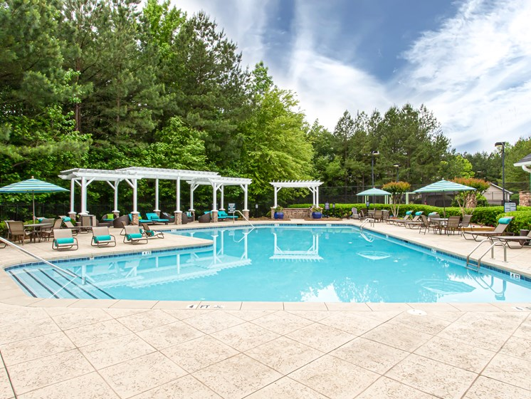 Brodick Hills pool with cabana
