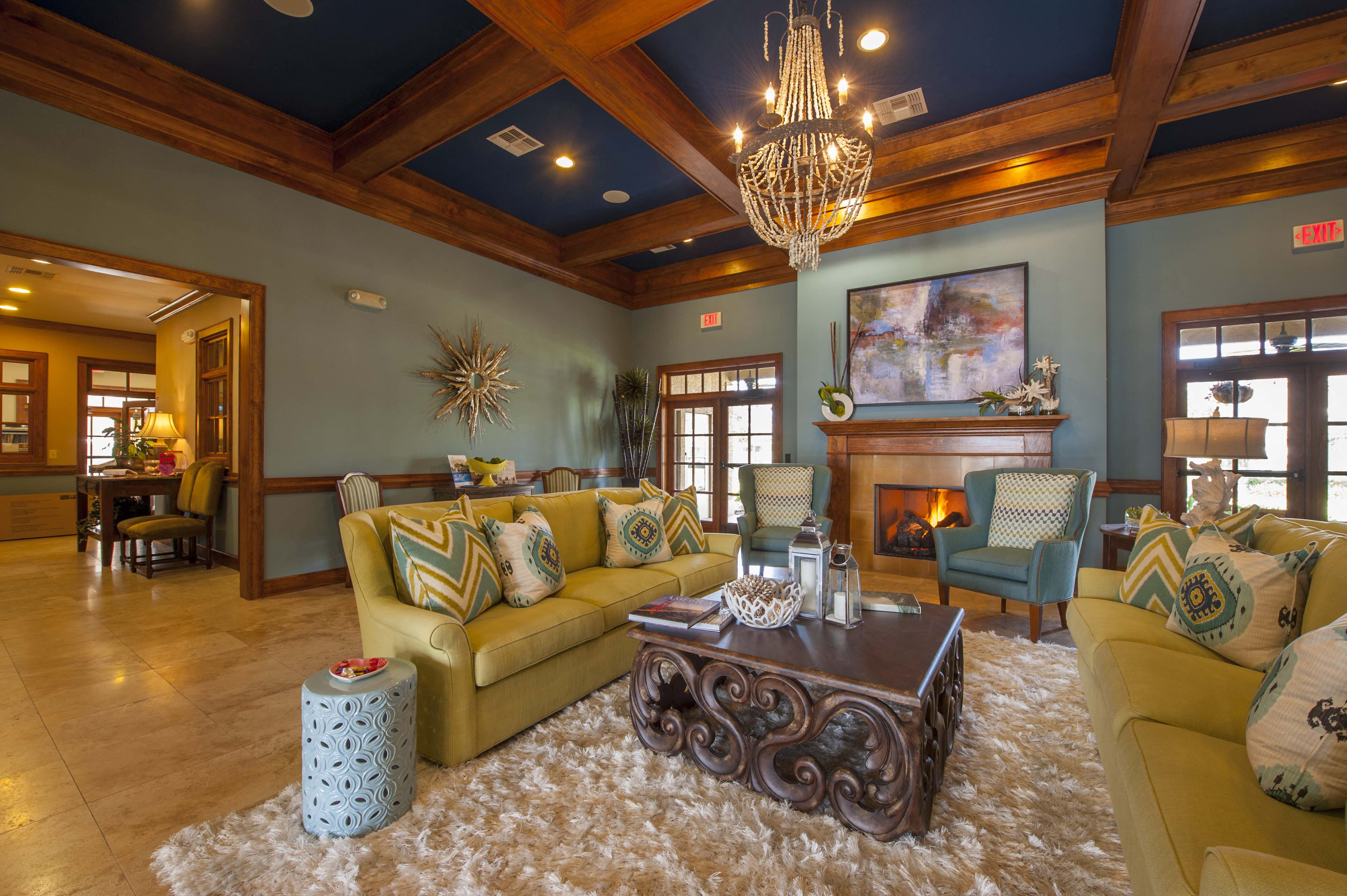 Living Room Remodel With Standard Fireplace at Century South Shore, League City, TX, 77573