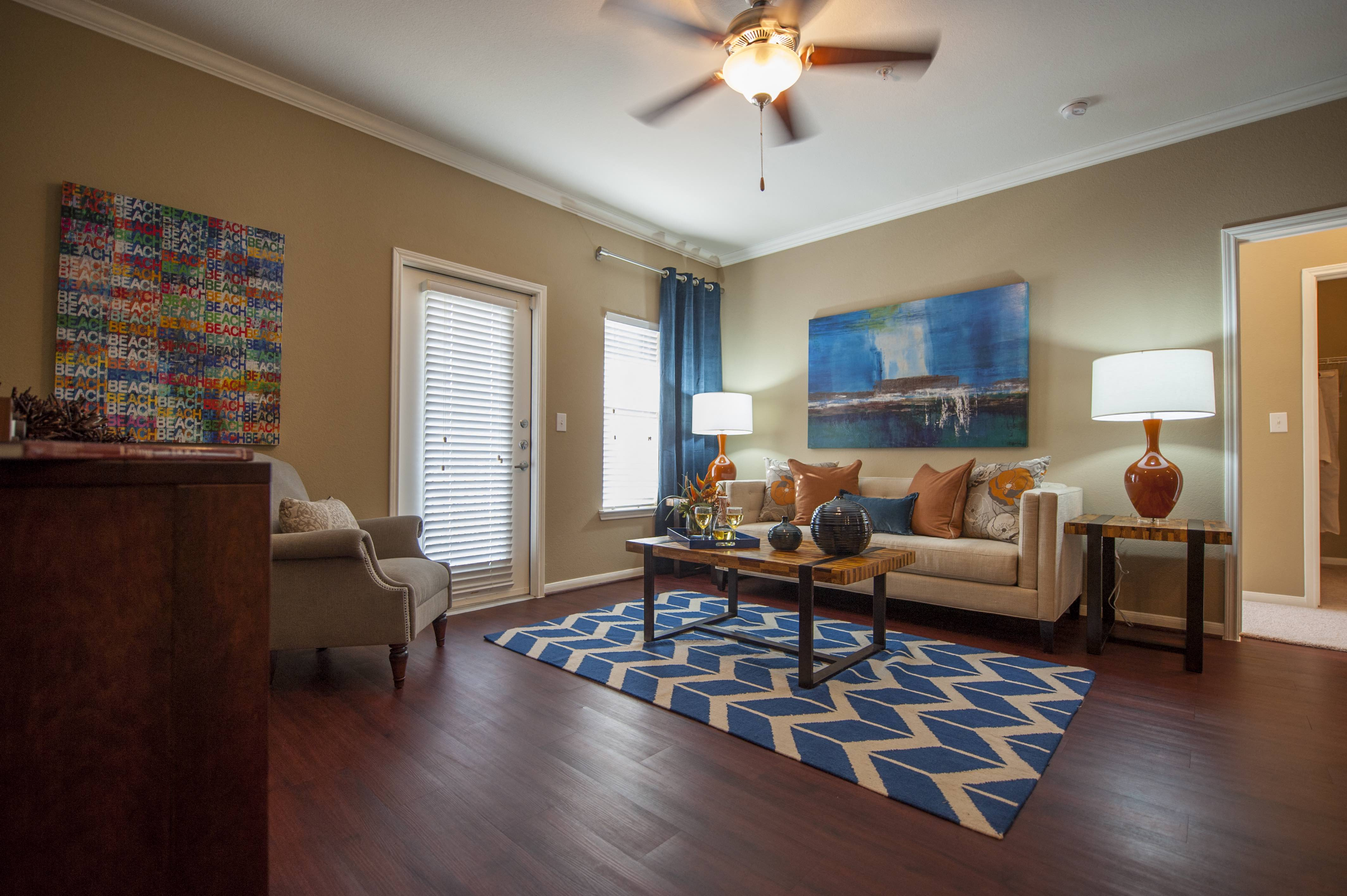 Ceiling Fan In Living Room at Century South Shore, Texas