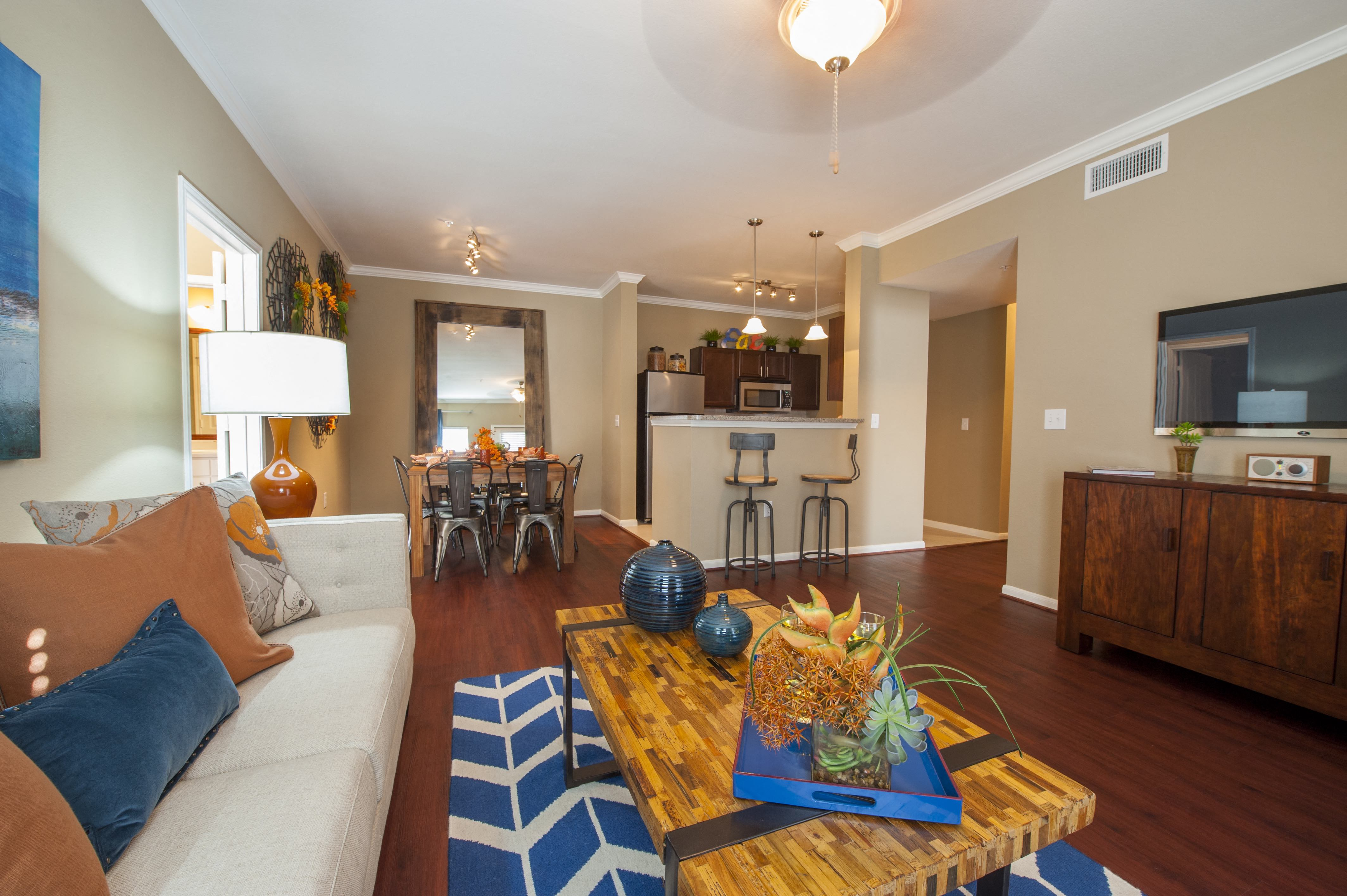 Living Room Come Dining Area at Century South Shore, Texas, 77573