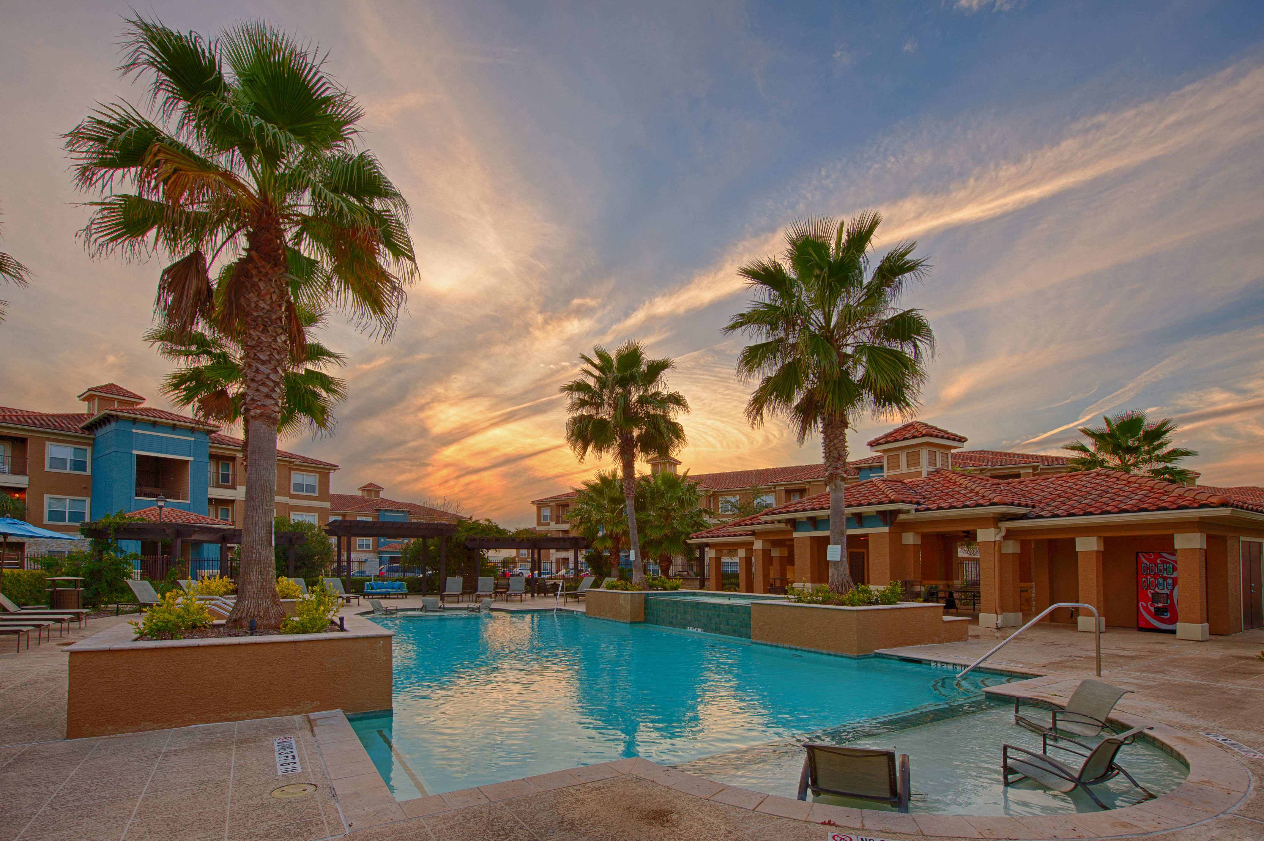 Swimming Pool With Lounge Chairs at Century South Shore, League City, 77573