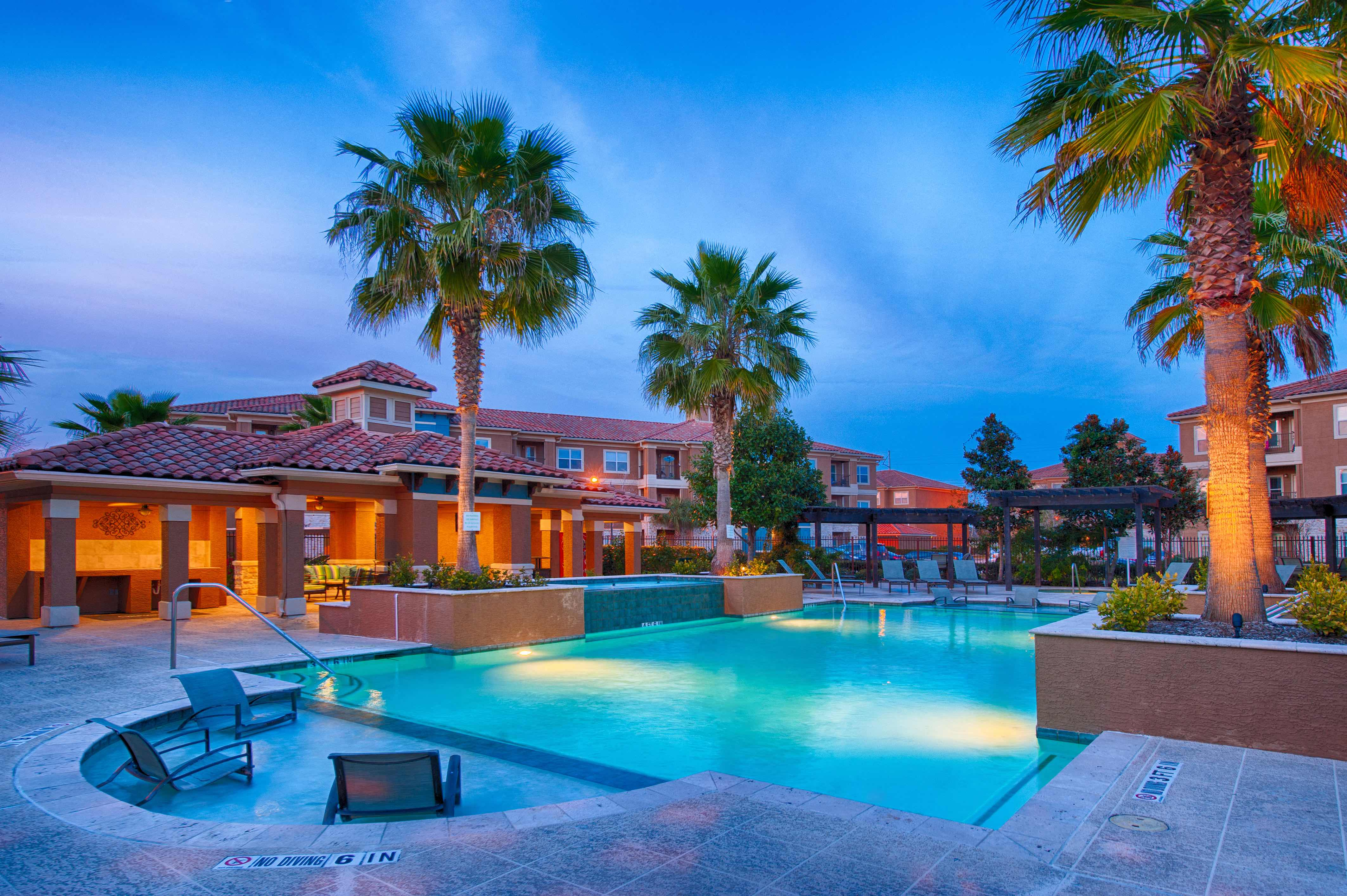 Twilight Pool at Century South Shore, League City