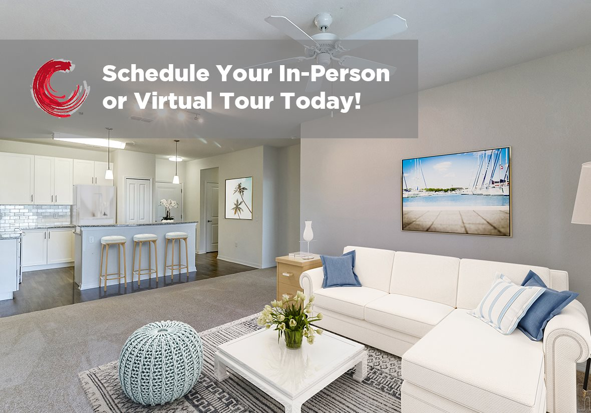 Modern Living Room With Kitchen View at Century Avenues, Florida, 33813