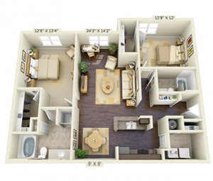 Montreal 2Bed 2Bath at Century South Shore, Texas