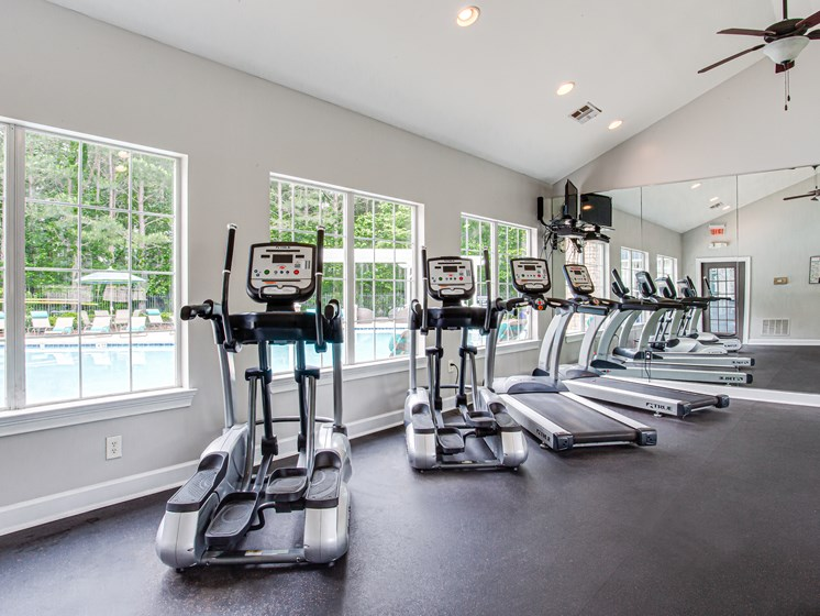 Brodick Hills fitness center with treadmills