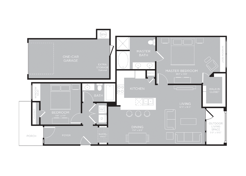 AMSTERDAM Floor Plan at Century Travesia, Austin, 78728