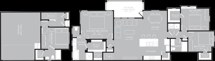 ATLANTA Floor Plan at Century Travesia, Texas, 78728