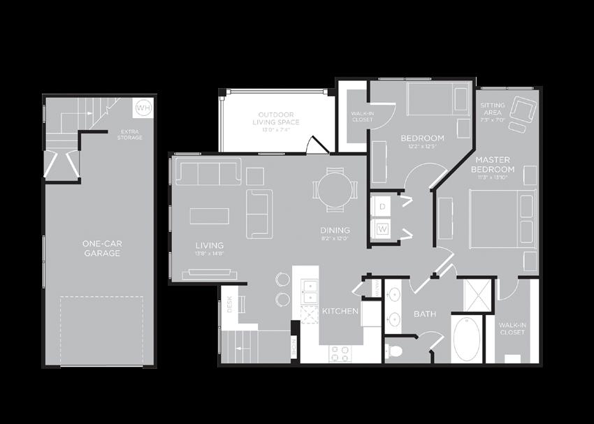 LONDON Floor Plan at Century Travesia, Austin, TX